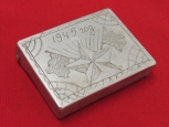 WWII Red Army Trench Art Cigarette Case. 1945.