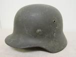 WWII German Army M35 Model Single Decal Steel Helmet .