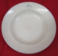 WWII Period Porcelain Plate RKVMF (Navy Service)