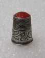 Imperial Russian Silver Thimble. Jugend Style. Stamp 84.