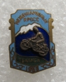 Vintage Soviet Estonian Badge Dedicated to an International Motocross of 1958 in Tbilisi.