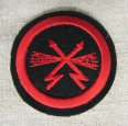 Postwar Soviet Navy VMF USSR Sleeve Patch of Cable & Radio Staff.