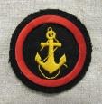Postwar Soviet Navy VMF USSR Sleeve Patch of Marine Security Staff.
