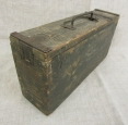WWI German MG 08 Machine Gun Wooden Ammo Box.