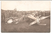 Russian Imperial Air Force. Picture of Plane Nieuport Crash.