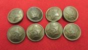 Red Army ( RKKA ) Buttons. Diameter 22 mm. War Period