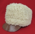 Swedish Army Sheep Fur Winter Hat. Stamped 1925. Size 60-64.