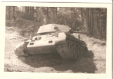 WWII Picture of Abandoned Т 34-76 Tank.