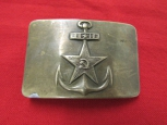 Prewar Russian Navy Belt Buckle. Rare Type.