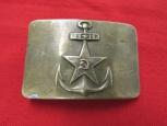 Prewar Russian Navy Belt Buckle. Rare Type.