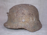WWII German single Decal M35 Steel Helmet.