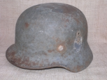WWII German M35 Wehrmacht Single Decal Helmet. Battlefield Relic.