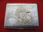 "Soviet Vintage Cigarette Case ""Warrior"""