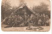 Estonian Army soldiers On a Foeld Camp.