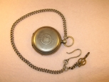 HY MOSER Watch With The Chain. Silver. Metall Stamp 84