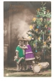 "Children & Christmas Tree - ""Happy Christmas"" Postcard."