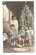 Children & Christmas Tree Postcard.