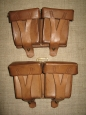German Reparation Leather Mosin Rifle Ammo Pouches