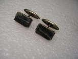 Cufflinks - Silver With The Malachite