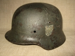 Double decal M35 German Steel Helmet.