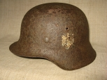 Single Decal German M42 Steel Helmet