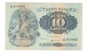 10 Krons. Estonia, 1937.